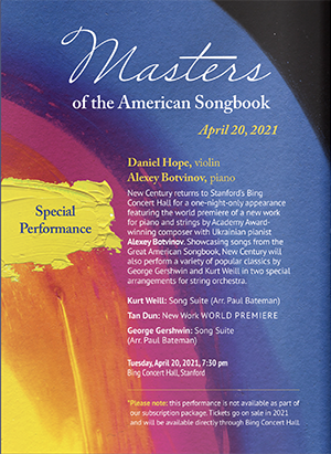 Masters of the American Songbook (SPECIAL PERFORMANCE)