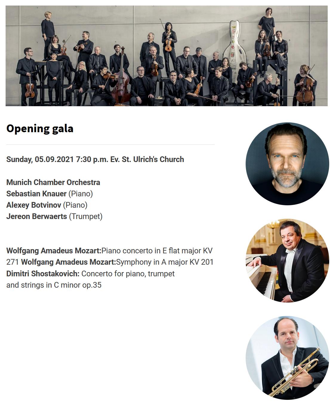 Mozart @ Augsburg festival - Концерт-открытие фестиваля
